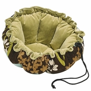 Bowsers St Tropez/Celery Microvelvet Buttercup Bed