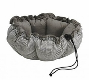 Bowsers Taupe Herringbone/Pebble Microvelvet Buttercup Bed