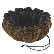 Bowsers Urban Animal/Ebony Microvelvet Buttercup Bed