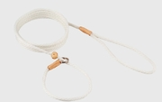 White Nylon Slip Lead with Stop