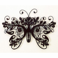 "34"" Regality of the Butterfly Handmade Metal Wall Sculpture"