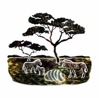 African Zebra Family Wall Art