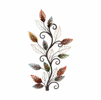 Autumn Foliage Branch Metal Wall Hanging