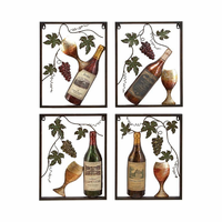 Blessings of the Vineyard Metal Wall Sculpture Set of 4