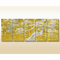 Bonsai Dreams Metal Wall Sculpture Set of 5