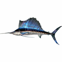 Colorful Sailfish Metal Wall Hanging