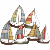 Come Sail Away Metal Sailboat Wall Hanging