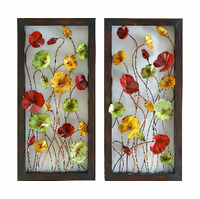 Dancing Cosmos Metal Wall Art Pair