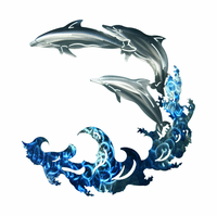 Dolphin Divers Metal Wall Sculpture