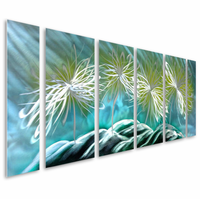 Electrified Floral Abstract Aluminum Wall Art