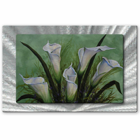 Elegance of Calla Lilies Floral Artwork