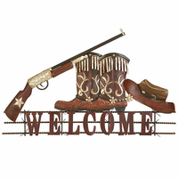 Fancy Cowboy Welcome Wall Decor