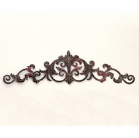 Fancy Fleur-de-Lis Metal Door Topper