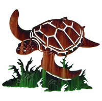 Fantastical Sea Turtle Metal Wall Sculpture