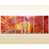 Fiery Oak Tree Wall Art Set of 6