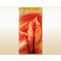 Fiery Rosebuds Metal Wall Art