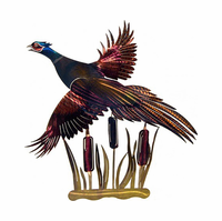 Flight of the Pheasant Metal Wall Decor