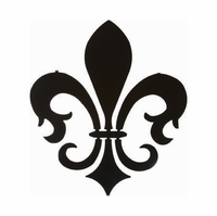 Flower of the Lily Fleur-de-lis Metal Wall Art Sculpture Hanging