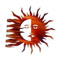 Fluid Sunburst Metal Wall Sculpture