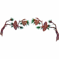 Forest Pine Cones Metal Door Topper