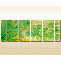 Green Organics Metal Wall Art Set of 6
