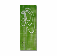 Green with Envy Metal Wall Art Sculpture