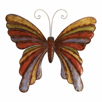 Hearts Aflutter Metal Butterfly Wall Hanging