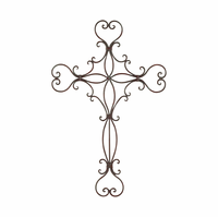 Heavenly Hearts Wall Cross Metal Hanging