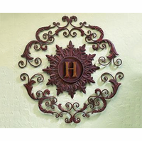 Heraldic Harmony Personalized Iron Wall Art
