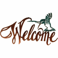 Hummingbird Welcome Metal Wall Art Sculpture
