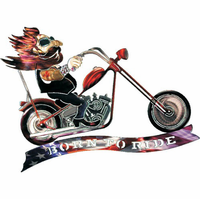 Humorous Born to Ride Biker Metal Wall Hanging