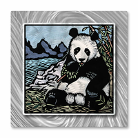 Hungry Panda Metal Wall Art