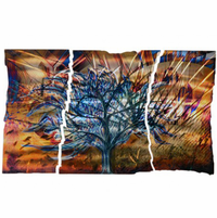 Illusion Tree Metal Wall Art