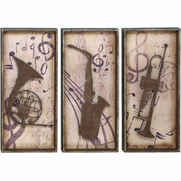Jazz man's Horns Music Wall Plaques