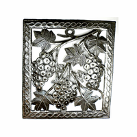Juicy Grapes Handcrafted Metal Wall Art
