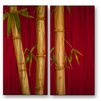 Just Bamboo Metal Wall Art
