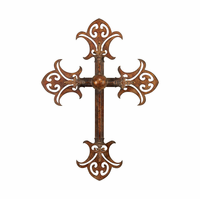 Knights of the Realm Wall Cross Metal Sculpture