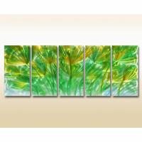 Leafy Focus Metal Wall Sculpture Set of 5