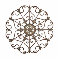 Medallion Fleur-De-Lis 3D Metal Wall Decor