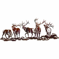 Meeting of the Bucks Metal Wall Hanging