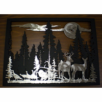 Northern Wildlife Silhouette Wall Art