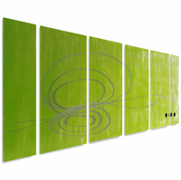 Organic Awakenings Abstract Metal Wall Art Set of 6