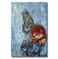 Peony Visitor Butterfly Wall Art