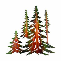 Pine Tree Gathering Metal Wall Art