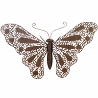 Pop Art Butterfly Metal Decor