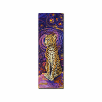 Purple Twilight Leopard Wall Art