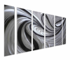 Quicksilver Modern Metal Art Set of 6