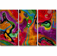 Rainbow Montage Metal Wall Hanging