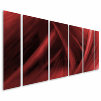 Red Ruckus Hand-Painted Metal Wall Art Sculpture Set of 6