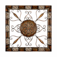 Rustic Grille Square Decorative Art